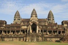 Angkor Wat da dietro Fotografia Stock