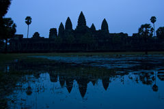 Angkor Wat Dawn. The majestic temples of Angkor Wat just before sunrise Stock Photos