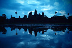 Angkor Wat at dawn Royalty Free Stock Photography