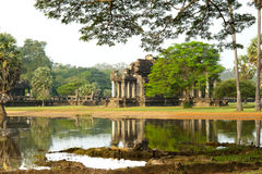 Angkor Wat at dawn Royalty Free Stock Photo