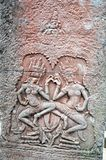 Angkor Wat, de reuze Hindoese tempel van Cambodiaa complex in Kambodja, gewijd aan de god Vishnu Stock Foto's