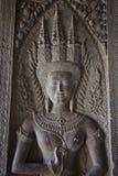 Angkor Wat Detail de la mujer Fotos de archivo