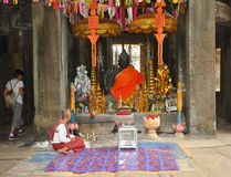 Angkor Wat el hogar del Buda Imagen de archivo