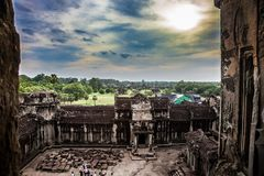 Angkor Wat em Camboja Imagem de Stock