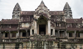 Angkor Wat entrance Royalty Free Stock Images