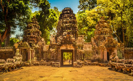 Angkor Wat Entrance Foto de Stock Royalty Free