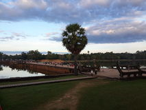 Angkor Wat exterior Imágenes de archivo libres de regalías