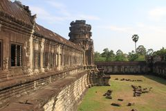 Angkor Wat External Wall Royalty Free Stock Photos