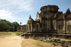 Angkor Wat, External wall - Cambodia Royalty Free Stock Image