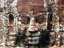 Angkor wat face. Face relief in angkor wat cambodia royalty free stock photo