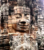 Angkor wat face. Of the statue royalty free stock photo