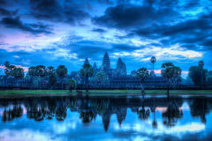 Angkor Wat - famous Cambodian landmark - on sunrise Royalty Free Stock Photo