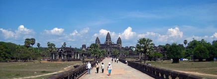 Angkor Wat on a fine day Royalty Free Stock Photo