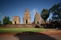 Angkor Wat forntida tempel Arkivbild