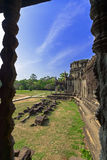 Angkor Wat Gallerie. Siem Reap Province of Cambodia. Largest religious monument in the world Stock Photos