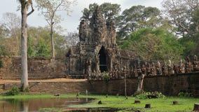 Angkor Wat Gateway, Cambodja Royaltyfri Bild