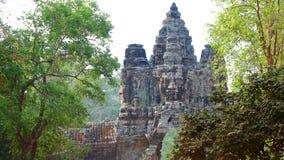Angkor Wat Gateway, Kambodja Royalty-vrije Stock Afbeeldingen