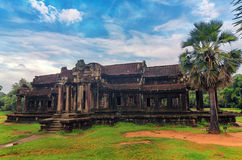 Angkor Wat - a giant Hindu temple complex in Cambodia Royalty Free Stock Image
