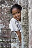 Angkor Wat girl Stock Photo