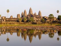 Angkor Wat in het Avond Licht Stock Foto