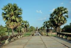Angkor Wat in het licht van de ochtendzon Royalty-vrije Stock Afbeelding