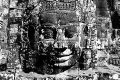 Angkor Wat i Cambodja Arkivbilder