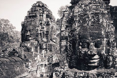 Angkor Wat i Cambodja Arkivfoto