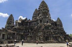 Angkor Wat, the inner 3rd highest level. Angkor, Siem Reap, Cambodia - April 14, 2013 : The inner highest level of Angkor Wat at Siem Reap Cambodia Stock Images