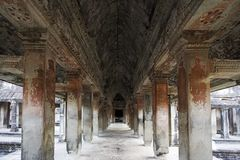 Angkor Wat Interior Stock Images