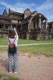 Angkor Wat ist eine UNESCO-Welterbestätte seit 1992 Berühmt für es ` s Bauprozess und schnitzen Wandgemälde Stockfotografie