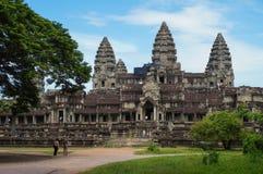 Angkor Wat ist eine UNESCO-Welterbestätte seit 1992 Berühmt für es ` s Bauprozess und schnitzen Wandgemälde Stockfoto