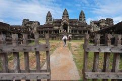 Angkor Wat ist eine UNESCO-Welterbestätte seit 1992 Berühmt für es ` s Bauprozess und schnitzen Wandgemälde Lizenzfreie Stockfotos