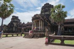 Angkor Wat ist eine UNESCO-Welterbestätte seit 1992 Berühmt für es ` s Bauprozess und schnitzen Wandgemälde Stockbilder