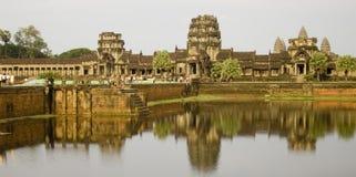 Angkor Wat Kambodża w dniu Zdjęcie Stock