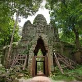 Angkor Wat in Kambodja royalty-vrije stock afbeelding