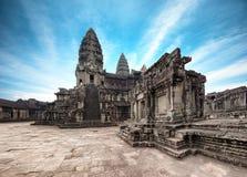 Angkor Wat Kambodja De Khmer tempel van Angkorthom royalty-vrije stock afbeeldingen
