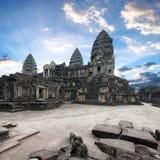 Angkor Wat Kambodja De Khmer tempel van Angkorthom royalty-vrije stock foto's