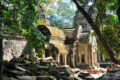 Angkor Wat kambodja Oude Architectuur Royalty-vrije Stock Foto's