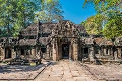 Angkor wat Kambodja van Ta prohm Stock Afbeelding