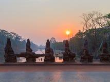 Angkor Wat, Khmer ναός σύνθετος, Ασία η Καμπότζη συγκεντρώνει siem Στοκ Φωτογραφίες