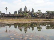 Angkor Wat Khmer arkitektur Arkivbild