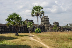 Angkor Wat. Khmer temple in Siem Reap province, Cambodia, Southeast Asia. UNESCO World Heritage Site Royalty Free Stock Photo
