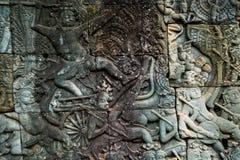 Angkor Wat komplex i cambodia Arkivbild