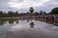 Angkor Wat las maravillas del patrimonio mundial siete de la palabra, Siem Reap, Camboya fotografía de archivo libre de regalías