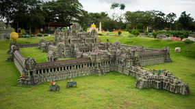 Angkor Wat lego model. A huge lego model of Angkor Wat, a temple complex in Cambodia and the largest religious monument in the world, with site measuring 162.6 Stock Photo