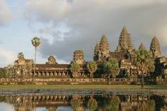 Angkor Wat and lotuses Stock Photo