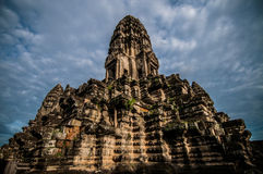 Angkor Wat. A low angle shot of one of the temple in Angkor Wat, Siem Reap, Cambodia Royalty Free Stock Photo