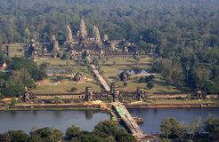 Angkor Wat Luftaufnahme stockbilder