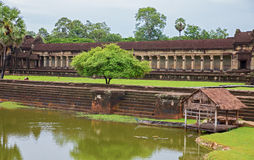 Angkor Wat main entrance Royalty Free Stock Photo