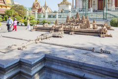 Angkor Wat miniature, Royal Palace Cambodia, Phnom Penh, Cambodia. The Royal Palace is a complex of buildings which serves as the royal residence of the king Stock Images